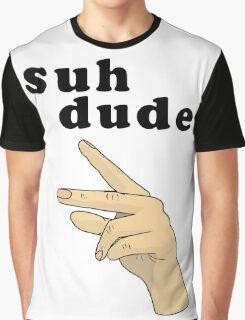 Suh Dude meme   Black Letters Graphic T-Shirt