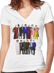 The Regenerated Doctors Women's Fitted V-Neck T-Shirt