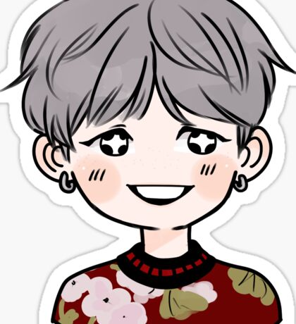 Suga (NIGHT) BTS Sticker Sticker