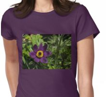 Deep Purple Easter Anemone Blossom Womens Fitted T-Shirt