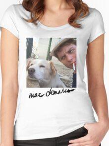 Mac Demarco dog  Women's Fitted Scoop T-Shirt