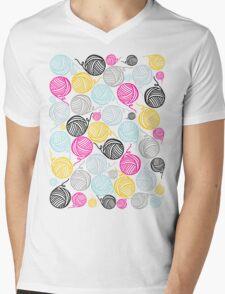 Yarn Yarn Yarn Yarn Yarn Mens V-Neck T-Shirt