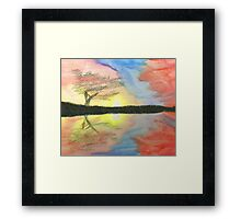 Sunset- Tree Framed Print