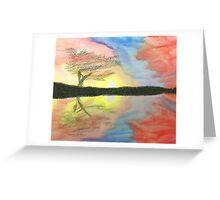 Sunset- Tree Greeting Card