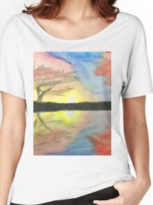 Sunset- Tree Women's Relaxed Fit T-Shirt
