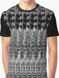 Feather Pattern | Black & White Graphic T-Shirt