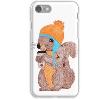 The Rare Toque-Wearing Coffee-Drinking Canadian Squirrel iPhone Case/Skin