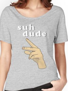 Suh Dude meme | White Letters Women's Relaxed Fit T-Shirt