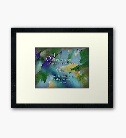 Do Great Things - Wisdom Saying Framed Print