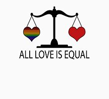 All Love is Equal with Rainbow Heart Unisex T-Shirt