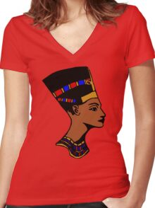 Nefertiti Women's Fitted V-Neck T-Shirt
