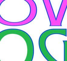 LIVE LOVE YOGA COFFEE Sticker