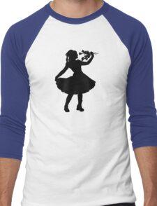 Oh Honey, You KNEW!! (Black Silhouette 1) Men's Baseball ¾ T-Shirt