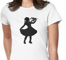Oh Honey, You KNEW!! (Black Silhouette 1) Womens Fitted T-Shirt