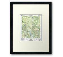 USGS TOPO Map Alabama AL Houston 304204 2000 24000 Framed Print
