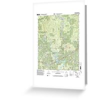 USGS TOPO Map Alabama AL Houston 304204 2000 24000 Greeting Card