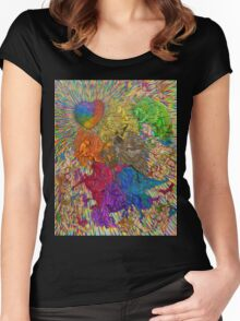 Wings Of Pride; Bow Of Freedom Drawing Women's Fitted Scoop T-Shirt