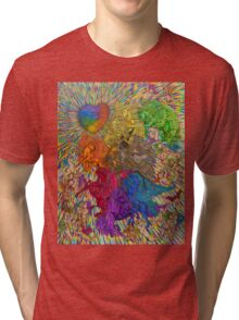 Wings Of Pride; Bow Of Freedom Drawing Tri-blend T-Shirt