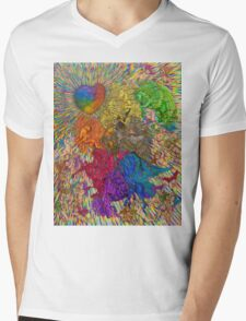 Wings Of Pride; Bow Of Freedom Drawing Mens V-Neck T-Shirt