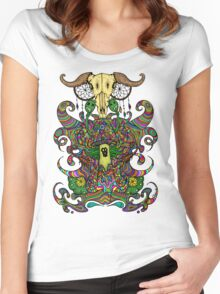 Poppy Seeds & Cannabis Women's Fitted Scoop T-Shirt