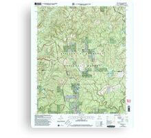 USGS TOPO Map Alabama AL Grayson 304029 2000 24000 Canvas Print