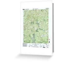 USGS TOPO Map Alabama AL Grayson 304029 2000 24000 Greeting Card