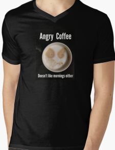 Angry Coffee Mens V-Neck T-Shirt