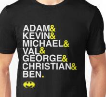 Batman actors shirt & more white version Unisex T-Shirt