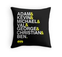 Batman actors shirt & more white version Throw Pillow