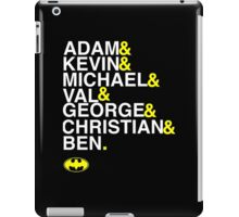 Batman actors shirt & more white version iPad Case/Skin