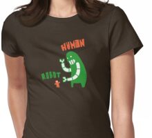 Robot v Human Womens Fitted T-Shirt