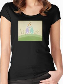 Cute Bunnies  Women's Fitted Scoop T-Shirt