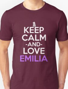 Keep Calm And Love Emilia Anime Shirt T-Shirt