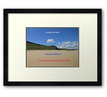 Challenge Runner-up Banner for Color Me A Rainbow! (In Nature) Framed Print