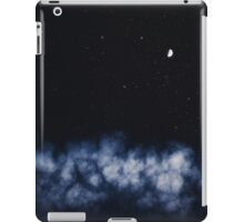 Contrail moon on a night sky iPad Case/Skin