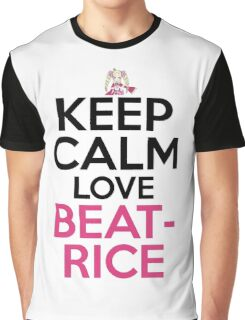 Keep Calm And Love Beatrice Anime Shirt Graphic T-Shirt