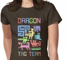 Dragon Tag Team: Draconic Glyphs Womens Fitted T-Shirt
