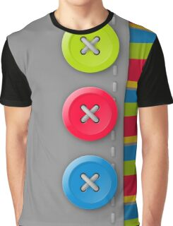 Colorful buttons on gray Graphic T-Shirt