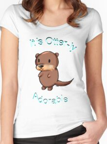 It's Otterly Adorable Women's Fitted Scoop T-Shirt