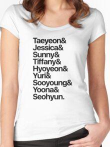 Girls' Generation (OT9-black text) Women's Fitted Scoop T-Shirt