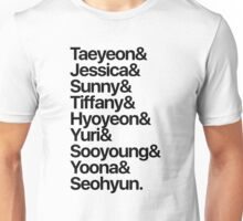 Girls' Generation (OT9-black text) Unisex T-Shirt