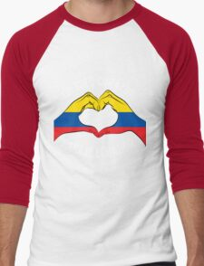 Ecuador - Un Solo Corazon2 Black Men's Baseball ¾ T-Shirt