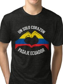 Ecuador - Un Solo Corazon2 Black Tri-blend T-Shirt