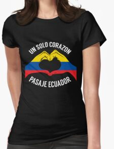 Ecuador - Un Solo Corazon2 Black Womens Fitted T-Shirt
