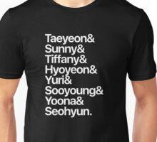 Girls' Generation (OT8-white text) Unisex T-Shirt