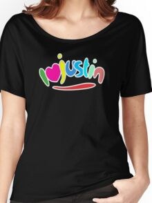 I love justin Women's Relaxed Fit T-Shirt