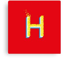 H for Helvetica Red Yellow and Light blue Type for 36 days of type Canvas Print
