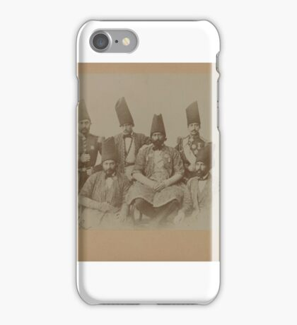 Gustave le Grand. Members of the Special Mission of Persia to the Courts of Europe led by Farroukh Khan, Amin al-Dowleh, One of Vintage Photographs,  iPhone Case/Skin