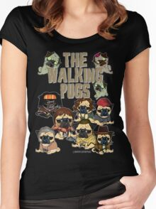 The Walking Pugs Women's Fitted Scoop T-Shirt