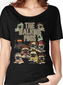 The Walking Pugs Women's Relaxed Fit T-Shirt